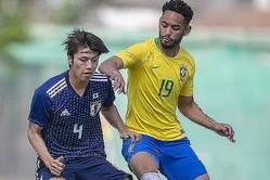 マテウス・クーニャ(19番)などの活躍で3−0とアルゼンチンを下したブラジル。※写真はトゥーロン国際大会の時のもの(C) Getty Images