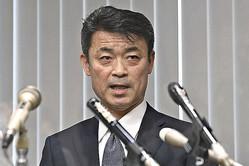 就任会見に臨む福山隆夫・新捜査1課長(2021年2月10日)