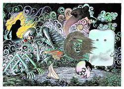 展覧会「水木しげる 魂の漫画展」横浜・そごう美術館で『ゲゲゲの鬼太郎』の生原稿など出展