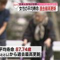 日本人女性の平均寿命 過去最高