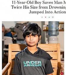 11歳少年、プールで溺れた男性を救助しお手柄(画像は『PEOPLE.com 2019年1月2日付「11-Year-Old Boy Saves Man More Than Twice His Size from Drowning: 'He Just Jumped Into Action'」(Eagan Police Department)』のスクリーンショット)