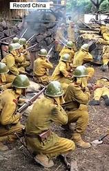 抗日戦争を戦った中国の元兵士が、テレビで放送されている抗日ドラマについて、「うそばかりだ」と語った。写真は抗日ドラマ。