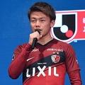 キックオフカンファレンスで鹿島の代表として登壇した上田。写真:徳原隆元