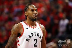 米プロバスケットボール(NBA)、ロサンゼルス・クリッパーズとの契約に合意したと伝えられたカウィ・レナード(2019年6月9日撮影、資料写真)。(c)GETTY IMAGES NORTH AMERICA / AFP