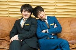 「おっさんずラブ」に出演する(写真左から)林遣都、田中圭/撮影=龍田浩之