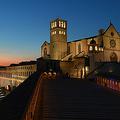 イタリア・アッシジの聖フランチェスコ聖堂(2020年4月10日撮影、資料写真)。(c)Tiziana FABI / AFP