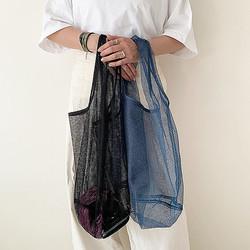 110円なのにちゃんとかわいい♡夏にぴったりな「メッシュバッグ」はダイソーでゲットしたいんです◎