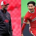 リバプール移籍後初ゴールという結果を出した南野(右)をクロップ(左)が褒めちぎった。 (C) Getty Images