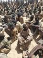 チャド軍が拘束した、反政府武装勢力「チャド変革友愛戦線(FACT)」の戦闘員とされる人々。同軍提供(2021年4月18日公開)。(c)AFP PHOTO/Chadian Army