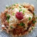 「梅おかか素麺」の材料はチューブの梅肉、かつお節、小ネギ、めんつゆ。味付けは麺つゆと梅肉の塩気のみだそうです(千裕さん提供)