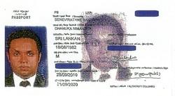 ダヌカさん名義のパスポート。スリランカ大使館は、これが間違いなく本人のものだと認定している