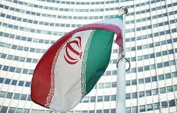 イランの国旗(2014年7月3日撮影、資料写真)。(c)JOE KLAMAR / AFP