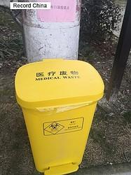 4日、新型コロナウイルスの感染拡大が続く中、中国浙江省衢州市の開化県蘇荘鎮が使用済みのマスク5枚をせっけん1個と交換する取り組みを行っている。資料写真。