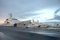 18年に完成した石垣島の海保新基地。深夜も早朝も関係なく、6つの岸壁から巡視船がひっきりなしに出撃している