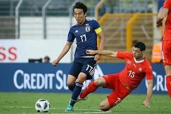 日本は良いところなくスイスに0対2で敗れた。写真:滝川敏之(サッカーダイジェスト写真部)
