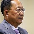 北朝鮮の李容浩(リ・ヨンホ)外相は先ごろシンガポールで開かれた東南アジア諸国連合(ASEAN)関連会議に出席し、北朝鮮に対する国連の制裁緩和を働き掛けた(資料写真)=(ロイター=聯合ニュース)
