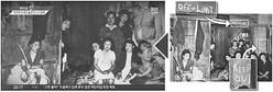 元の写真(右)にはあった英文表記を切り取った「朝鮮人慰安婦」とされる写真(左)
