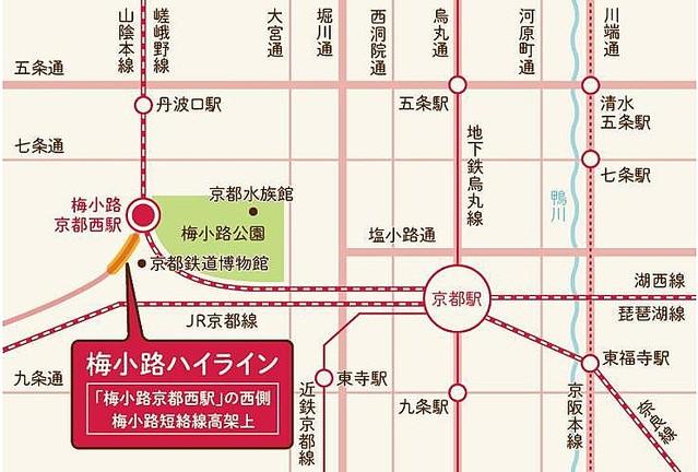 ライン 梅小路 ハイ JR西と京都市、廃線となった鉄道高架を屋台ストリートに再生 実証実験へ