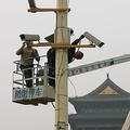 中国当局が5日に発表した政策方針で、香港で市民を監視する「社会信用システム」の導入を示唆した(Guang Niu/Getty Images)