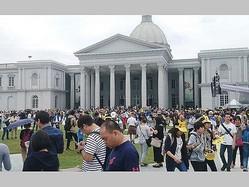 「ポケモンGO」のユーザーで賑わう台南都会公園の一角