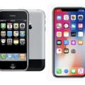 iPhone2G iPhone X 画面比較