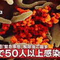 大阪府内で新たに50人以上が感染