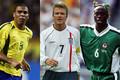 (左から)元ブラジル代表FWロナウド、元イングランド代表MFベッカム、元ナイジェリア代表DFウェスト【写真:Getty Images】