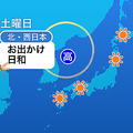 13日は広いエリアで運動会日和 関東は日中に弱い雨降る可能性も