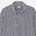 エクストラファインコットンブロードストライプシャツ(ボタンダウン・長袖) 1990円(+税)