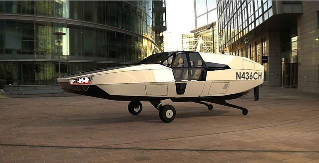 デロリアン似?イスラエルの水素燃料電池で空を飛ぶタクシー