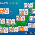 西・東日本は日差しが届き夏本番の暑さに 午後は内陸部で雷に注意