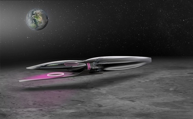 レクサスが「月の乗り物」をデザイン。月面を時速500kmで滑走するリニア式バイクなど