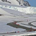 南極・サウスシェトランド諸島のヤンキーハーバーを訪れる観光客(2019年11月6日撮影、資料写真)。(c)Johan ORDONEZ / AFP