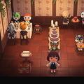 シックな壁と床で演出 あつ森で「高級レストラン」を作ってみた