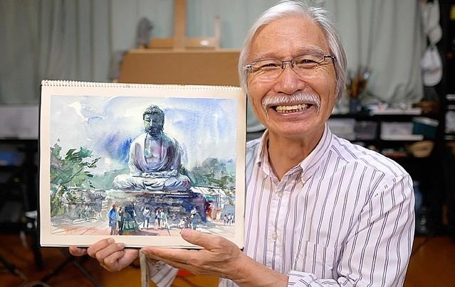 講師歴40年超の73歳画家YouTuber 登録者数68万人の秘密