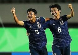 西川とのホットラインで2ゴールを決めた若月(9番)が日本を初戦勝利に導いた。(C) Getty Images