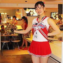 チアガール A&TCollection ラブリーチアガール コスチューム 紺/白/ピンク レディース Mサイズ