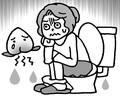 拭きすぎによるお尻のヒリヒリにはどう対処?(イラスト/藤井昌子)