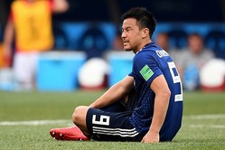 セネガル戦の75分から途中出場したその3分後、ゴール前で潰れて本田の同点弾を引き出した。(C)Getty Images