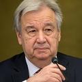 国連のアントニオ・グテレス事務総長(2021年4月29日撮影、資料写真)。(c)Fabrice COFFRINI / AFP