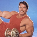 1985年頃のアーノルド・シュワルツェネッガー。ボディビルの世界チャンピオンに7度も輝いた【写真:Getty Images】