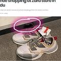 中国のZARAでスニーカーの中からネズミの死骸発見(画像は『shanghaiist 2019年1月16日付「Woman discovers dead rat inside sneaker while shoe shopping at Zara store in Chengdu」』のスクリーンショット)