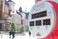 東京パラリンピックまでのカウントダウン表示が消えた東京駅丸の内口(撮影・会津 智海)