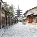 自粛期間中、京都の街は閑散としていた