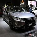 小型SUVが衝撃イメチェン! 20インチホイール+40mmローダウンの三菱エクリプス クロス【大阪オートメッセ2019】