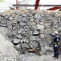 家康の頃の江戸城石垣を発見