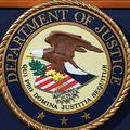 米司法省の標章(2018年11月28日撮影、資料写真)。(c)MANDEL NGAN / AFP
