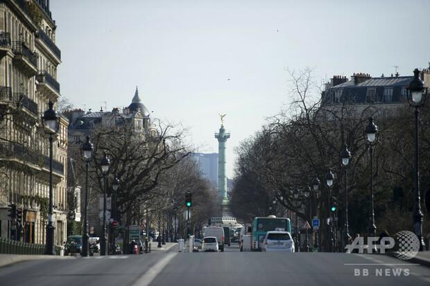 フランス・パリのバスチーユ地区付近(20213年3月15日撮影、資料写真)。(c)FRED DUFOUR / AFP