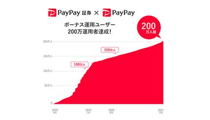 [画像] 開始約10カ月で200万運用者に、PayPayの投資疑似運用体験サービス「ボーナス運用」