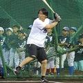 野球教室を開催した松井秀喜氏【写真:編集部】